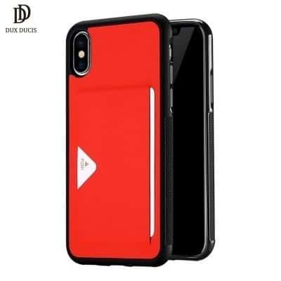 DUX DUCIS iPhone Xs Max Pocard Series rood